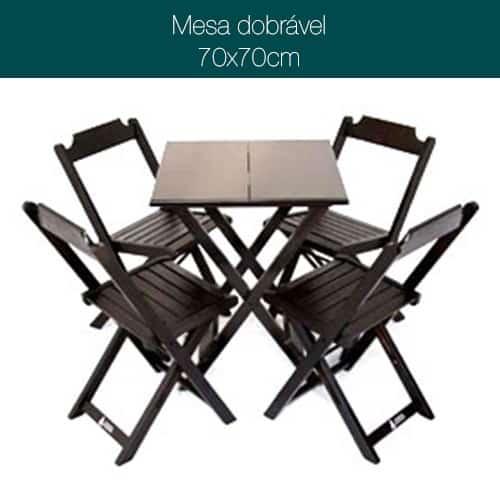 Imagem Mesa Madeira Bar Dobrável