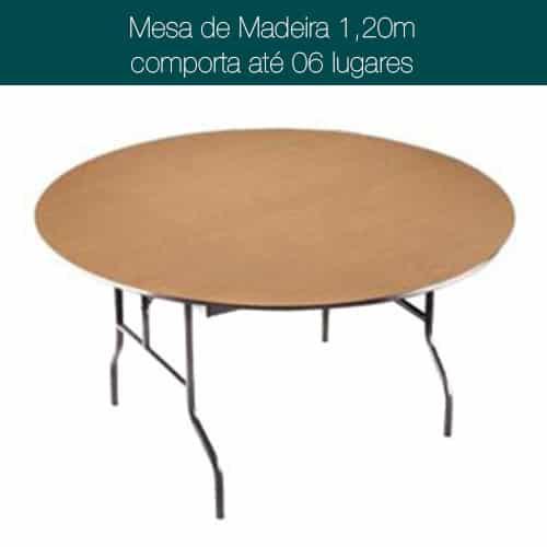 Imagem Mesa de Madeira Redonda 120cm para 6 pessoas