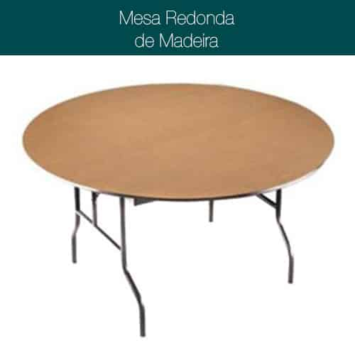 Mesa Madeira Redonda 120cm
